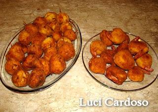 camarão empanado sem farinha de rosca