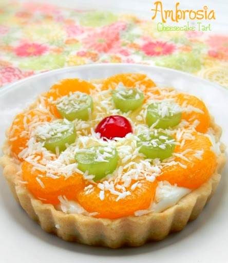 marshmallow pineapple fridge tart