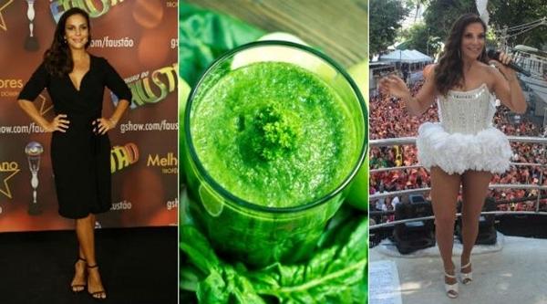 Dieta do suco verde da Ivete Sangalo