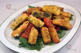 Ensalada caprese tibia (vídeo-receta)