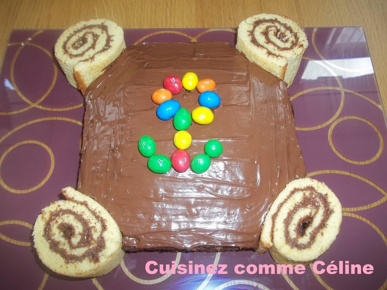 Gâteau au chocolat et roulé Nutella