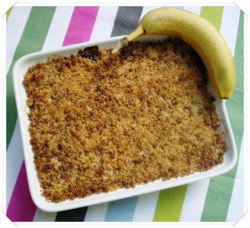 Crumble banane/chocolat/speculoos - Crumble de banana/chocolate/speculoos