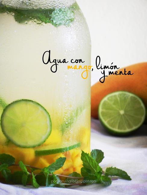 Refrescante Agua con Mango, Limón y Menta