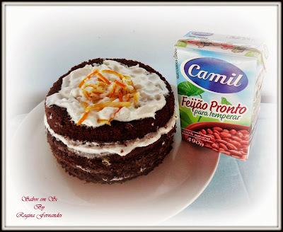 """Bolo de Feijão Pronto CAMIL e Chocolate """"Com seu tempero fica muito mais gostoso"""""""