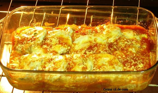 berinjela parmegiana que não precisa fritar