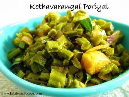 Cluster Beans/Kothavarangai Poriyal