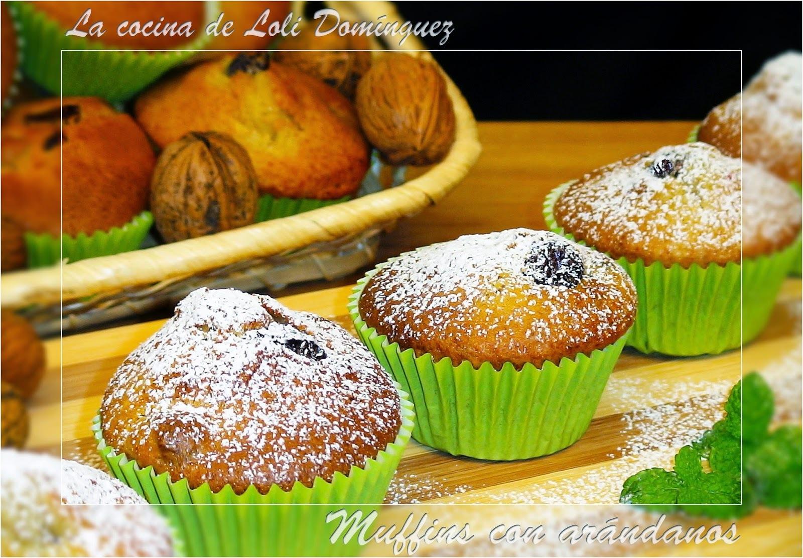 Muffins con arándanos