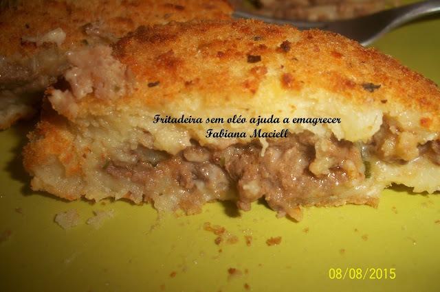 Bolinho de batata recheado na Fritadeira sem óleo AirFryer