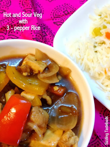 Hot and Sour Vegetables with 3-Pepper Rice | Chinese Combo Meal