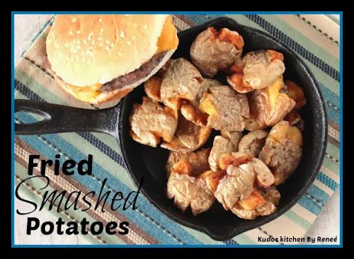 Fried Smashed Potatoes - #SundaySupper Being Thankful