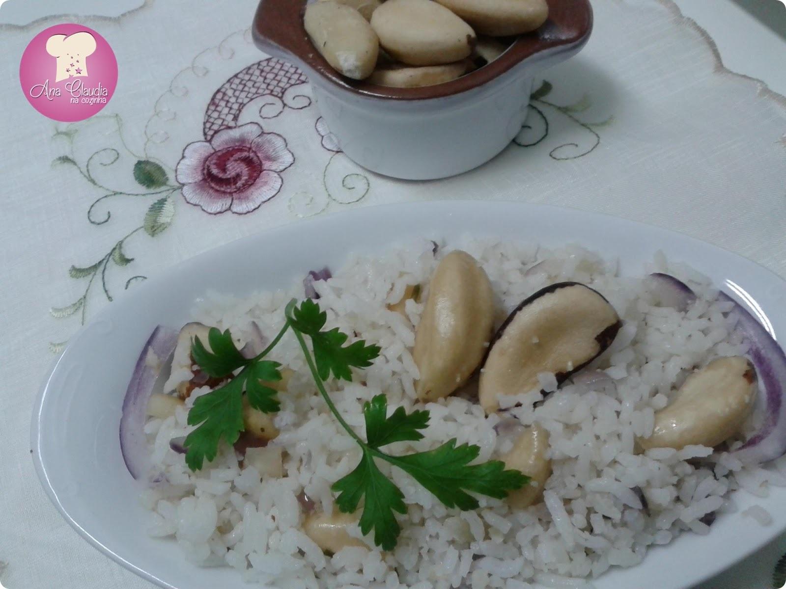 arroz com amendoas nozes e castanha