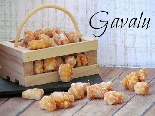 Gavalu  ~ Diwali Snack with step by step pictures.