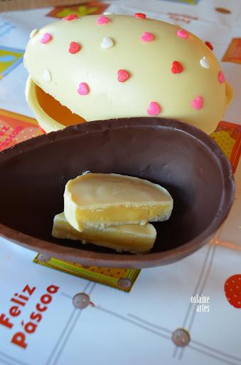 como fazer ovos de pascoa com recheio colorido