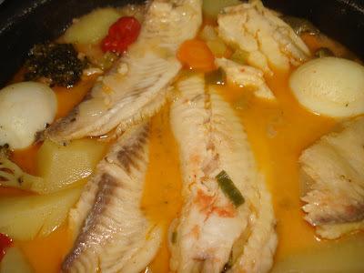 peixe ensopado com creme de leite