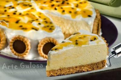 Torta Mousse de Maracujá com Marshmallow