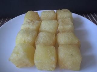 mandioca frita crocante