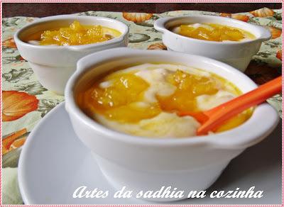 Mousse de abacaxi Dica de receita facil para o natal /Postagem Coletiva de natal  Blogs de culinaria