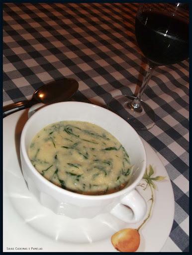 Meio sopa/meio polenta