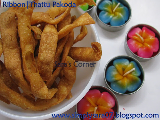 Ribbon | Thattu Pakoda | Diwali Savoury Recipe!!!