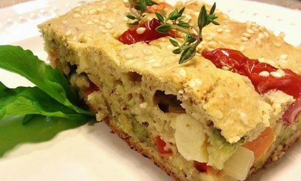 Receita Torta de Legumes com Biomassa de Banana Verde