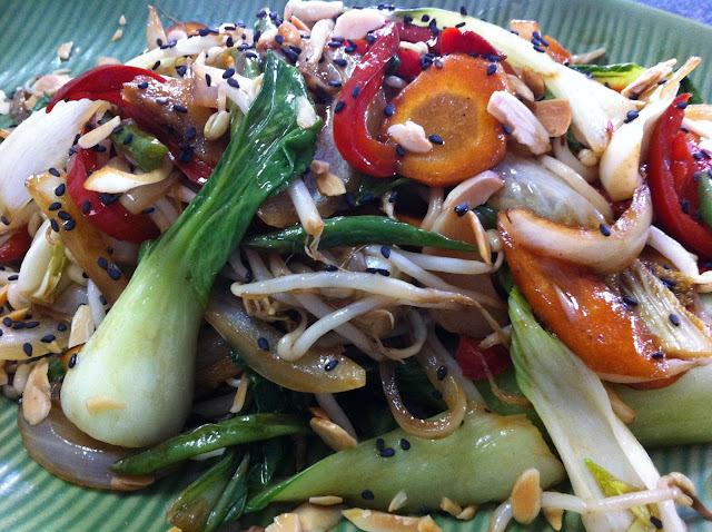 salada de acelga e couve chinesa