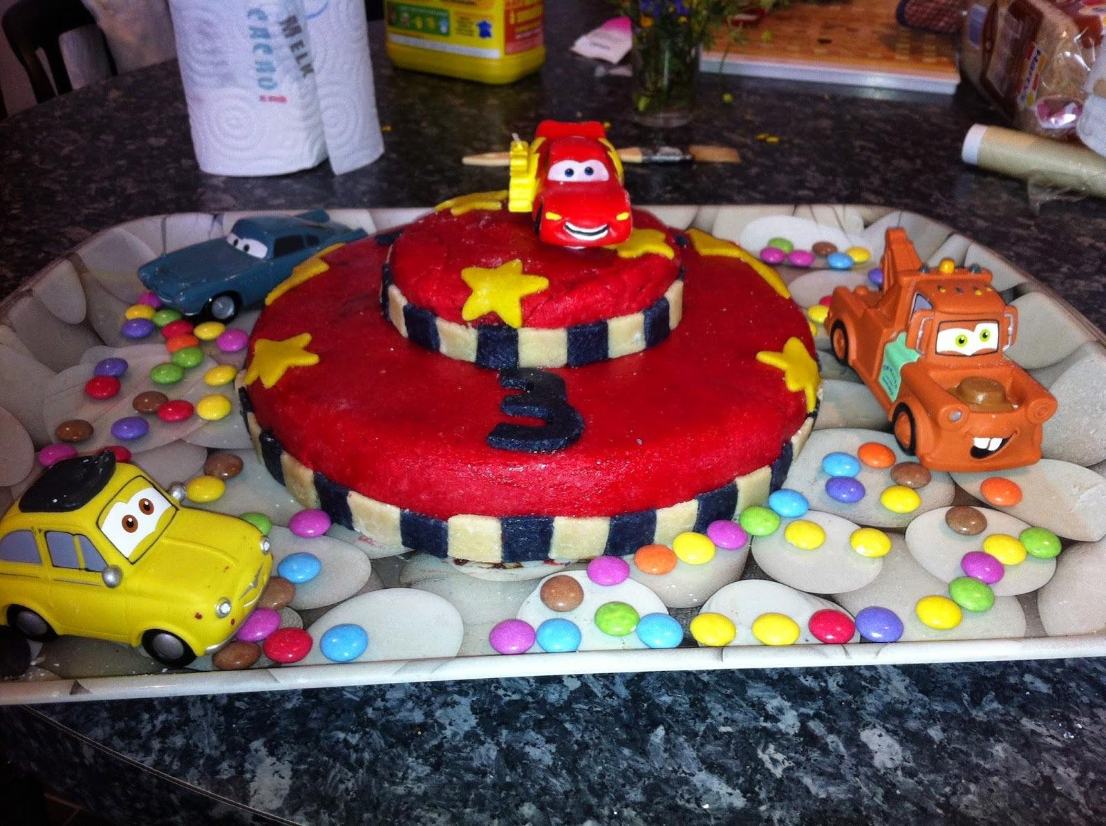 Gâteau à étage Cars 3D
