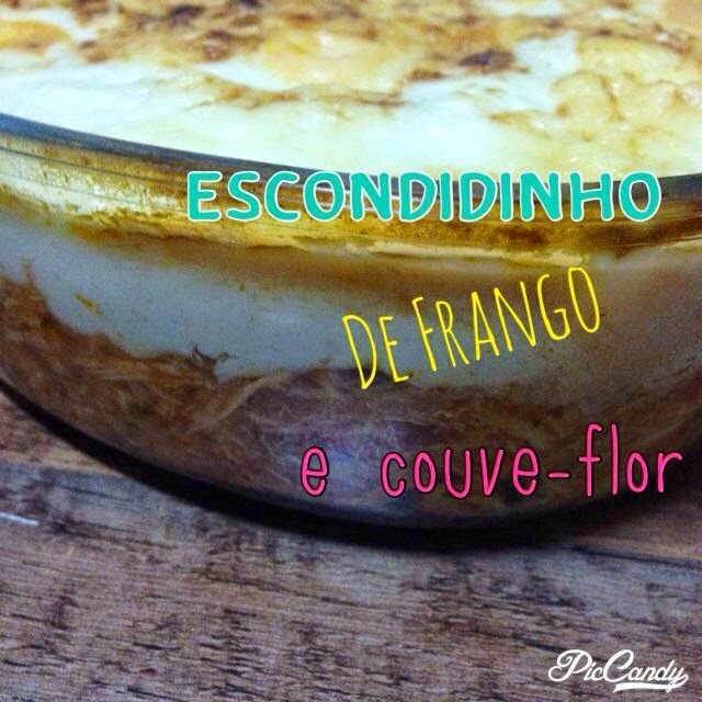 Escondidinho Low Carb de frango e couve-flor