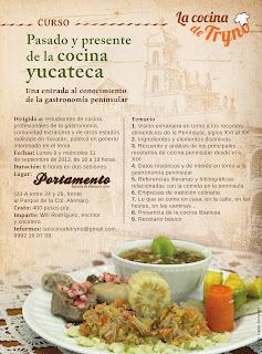 """Curso """"Pasado y presente de la cocina yucateca. Una entrada al conocimiento de la gastronomía peninsular"""""""