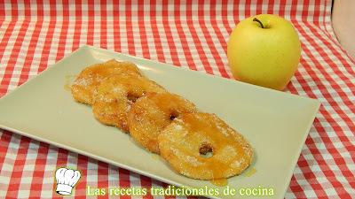 Receta fácil de manzanas rebozadas