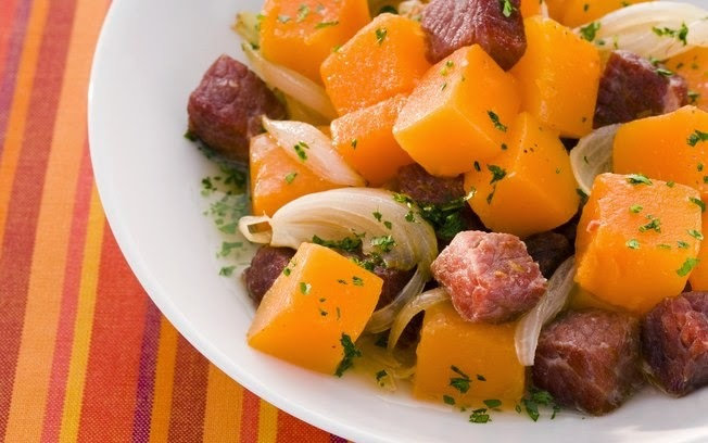 Comida de Boteco - Carne-seca com abóbora