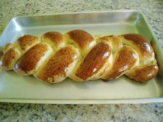 Pão caseiro Doce de Trança