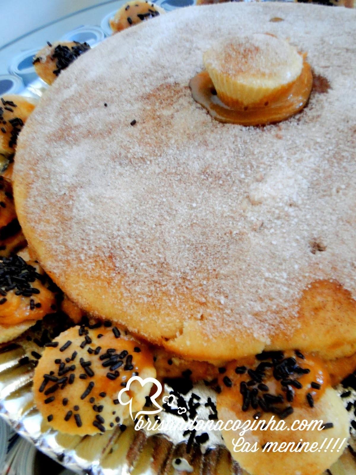 ingredientes para bolo em potes para presente