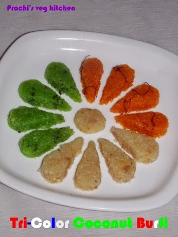 Tri-Color Coconut Burfi | Independence Day Special