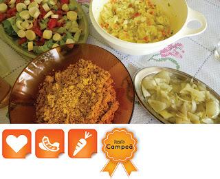 Acompanhamentos de Churrasco: Farofa, Maionese, Salada e Vinagrete!