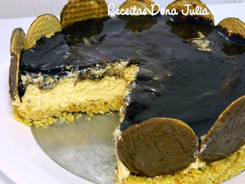 torta de biscoito de maisena simples