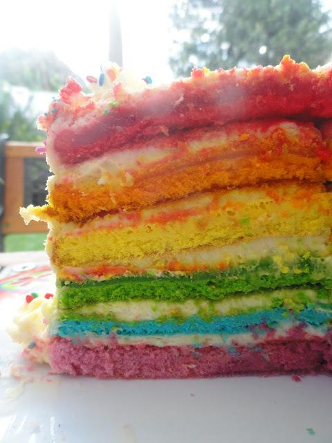 Torta arcoiris (o Rainbow cake)