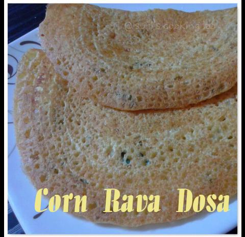 Corn Rava Dosa