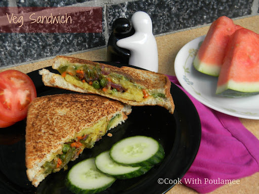 Veg Sandwich: My Simple Brunch.