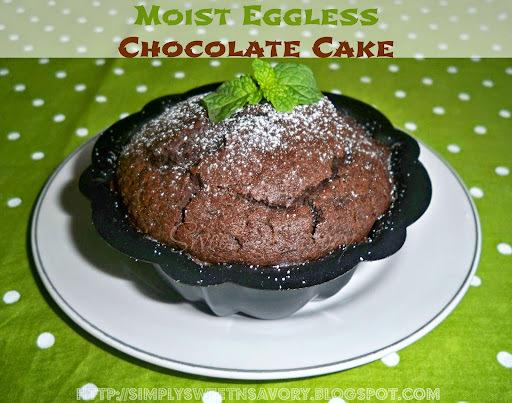 Moist Eggless Chocolate Cake