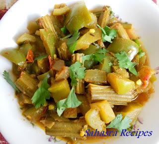 Ridge Gourd (beerakaya) Curry