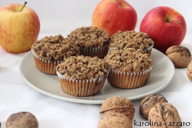 Jablkové Cupcakes s posýpkou