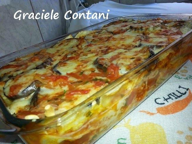 Lasanha de Frango e Berinjela (com massa caseira), de Graciele Contani