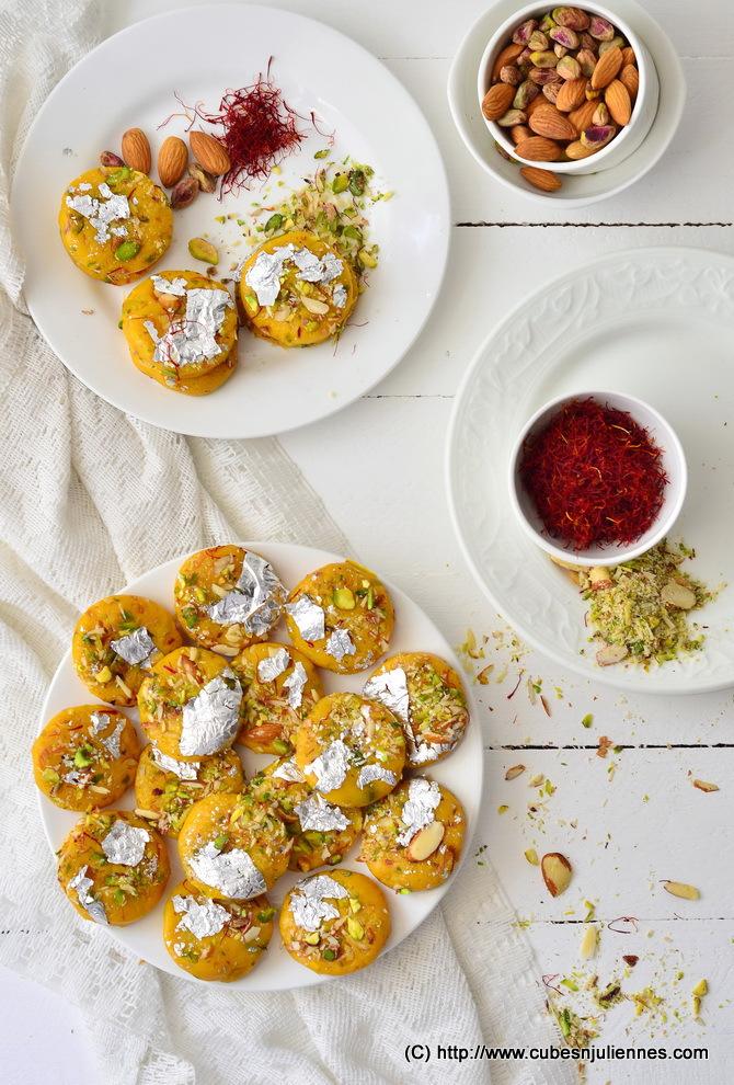 Saffron Mango Barfi