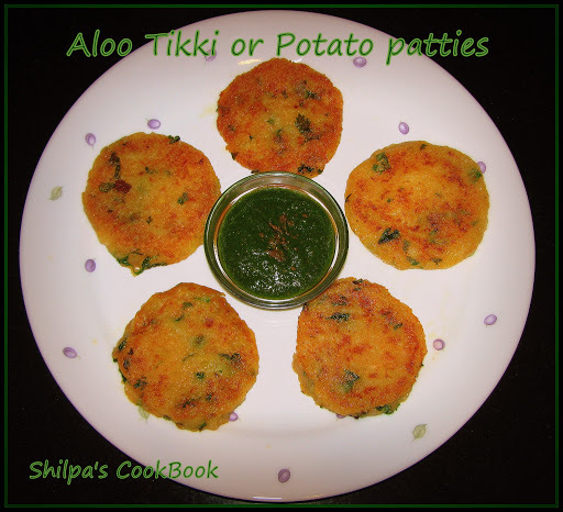"""Aloo Tikki"" or Potato patties - A Popular Indian Snack/Street Food"