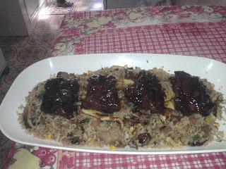 costela suína com arroz oriental
