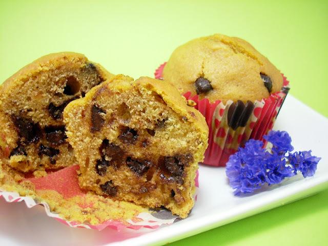 Muffins de Calabaza y Gotas de Chocolate
