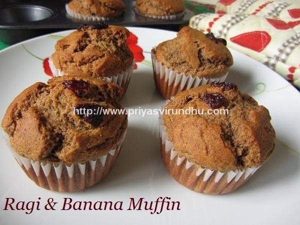 Ragi & Banana Muffins