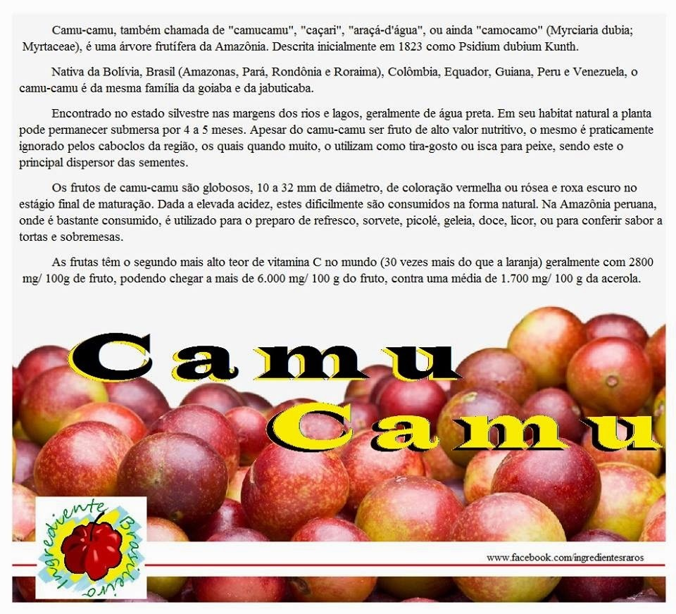 DICA FUNCIONAL: Camu-Camu