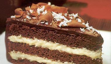 decoraçao de bolo de coco em tiras
