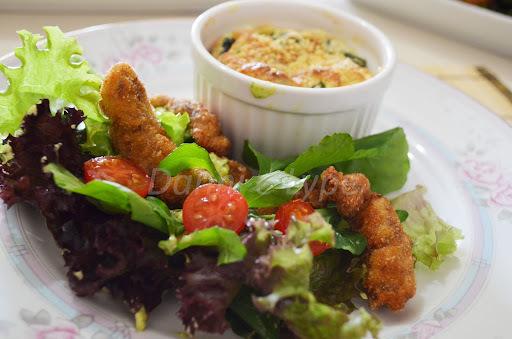 Salada com Iscas de Filé Mignon